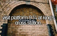 visit platform 9 3/4 at king's cross station.