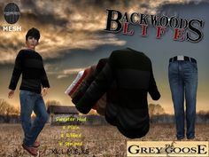 (WEAR ME) Backwoods Outfit (Sweater & Jeans) The Grey Goose secondlife, sl, avatar, men, secondlife fashion lifestyle