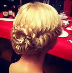 Fabulous French fishtail updo... Prom hair?