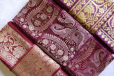 Silk Trim, vintage fabrics SR900 Saree Dress, Vintage Fabrics, Unique Colors, Lace Fabric, Mixed Media, Weaving, Quilts, Embroidery, Silk