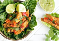 Thai Chicken with Lettuce--healthy, simple and perfect to pack for picnic @SECooking   Sandra