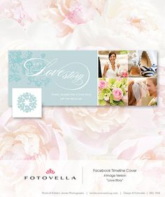 """""""Love Story"""" Facebook Timeline Template by FOTOVELLA // Photoshop Templates for Pro Photographers"""