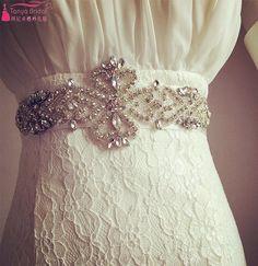 Find More Bridal Blets Information about Sparkling diamond luxury wedding dress…