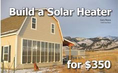 $350 Thermosyphon Solar Air Space Heater (with 1 year payback)