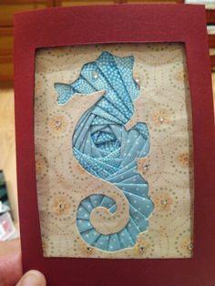 Iris Folding Patterns Free Printables Seahorse Die Cut