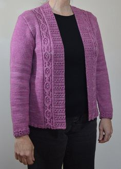 Mireille Cardigan Knitting pattern by Valerie Hobbs. Gently flaring cable panels, an embellished collar band, and long sleeves trimmed at the cuff with a simple motif. Christmas Knitting Patterns, Sweater Knitting Patterns, Cardigan Pattern, Knit Patterns, Knit Cardigan, Lang Yarns, Dress Gloves, Yarn Brands, Arm Knitting