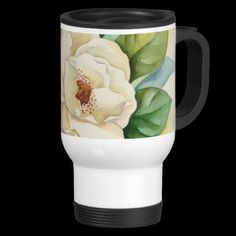 NICE!!! Magnolia Flower Watercolor Painting Art Coffee Mugs. http://www.zazzle.com/magnolia_flower_watercolor_art_multi_coffee_mugs-168377593251923825