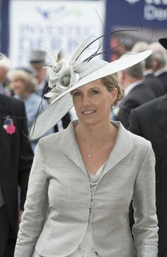 HRH The Countess of Wessex, wife of the Queen's youngest son, Prince Edward, at Epsom Derby.