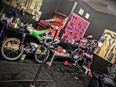 Service area at INRUSH bicycles in fort wayne indiana. BMX!