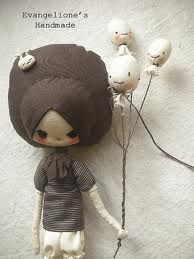 doll with balloons Lose Yourself, Bjd Dolls, Doll Toys, Copper Gifts, Make Do And Mend, Handmade Toys, Oyin Handmade, Handmade Headbands, Handmade Knives