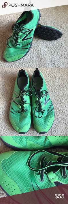 Men's New Balance Minimus MT20PG2 Green trail running shoe with Vibram outsole. Only used a handful of times and still in great condition. A couple of very small dirt marks but overall still very clean. Will consider serious offers. New Balance Shoes Sneakers