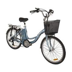 Liberty 1.5 Step-Through Cruiser Electric Bicycle. Wonder how many calories you burn riding this?