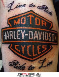 Harley Davidson tattoo  My gpa would like this-- I really like this. I wouldn't get it, but I like it.