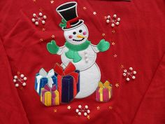 LG Christmas Long Sleeve T Shirt Snowman Red Embellished Embroidery Gifts NWT L in Clothing, Shoes & Accessories, Women's Clothing, T-Shirts Christmas Items, Christmas Snowman, Christmas Sweaters, Merry Christmas, Cute Clothes For Women, Favorite Holiday, Top Rated, Holiday Ideas, Women's Clothing