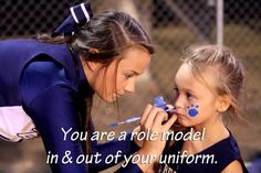 Very true and an amazing honor!  You are a role model in & out of your uniform - CHEER #KyFun