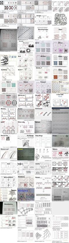 Tangle Patterns a to Z from Clipzine:
