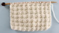 WAFFLESTITCH PATTERN Learn EASY KNIT AND PURL STITCH PATTERNS in the Absolute Beginner Knitting Series by Studio Knit