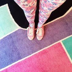 Miranda Makaroff wearing Pedro García Parson satin sneakers in pink