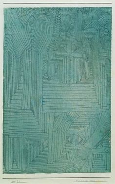 "sunnation: "" Paul Klee, Forest Architecture, 1925 """