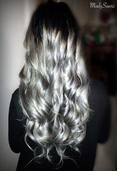 @kyliejenner inspired #SilverHair 💎💎💎 #Curls #curlyhair #greyhair #hair #longhair #kyliejenner #kyliejennerhair #madysaenz #madysaenzhairandmakeup #orangecounty #orangecountyhairstylist #pravana #pravanavivids #pravanasilver