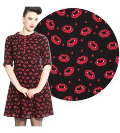 Hell Bunny Kiss Me Deadly Dress (S, M, L, XL Only)
