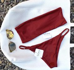 Burgundy♥️ #HALEYRAYESWIMWEAR String Bikinis, Burgundy, Swimwear, Shopping, Fashion, Dental Floss, Bathing Suits, Moda, Swimsuits