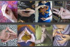 Photo gallery of various Buddhist hand gestures (mudras) used in yoga practice, meditation, and for healing purposes.: Mudras - Hand Gestures