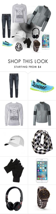 """""""Untitled #8"""" by belmin-aljic ❤ liked on Polyvore featuring AG Adriano Goldschmied, adidas, Neil Barrett, NIKE and Beats by Dr. Dre"""