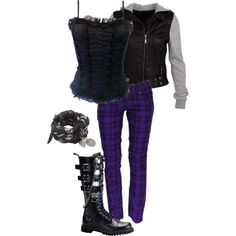 """purple people eater"" by ktmac92 on Polyvore"