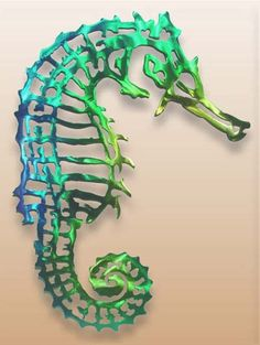 Wall Hangings Metal Wall Hanging Animal, Hanging Seahorse | Gifts ...
