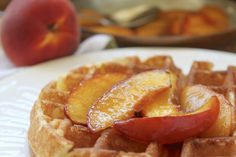 This buttery maple peach topping recipe is such a great way to add summer peaches to your breakfast or dessert! It's so simple you just have to make it! Dessert Cookbooks, Dessert Sauces, Dessert Recipes, Candy Recipes, Holiday Recipes, Best Peach Pie Recipe, Peach Pie Recipes, Lemon Recipes, Breakfast Dessert