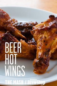 Bring the heat with these spicy beer hot wings that are marinated overnight and perfect for game day!