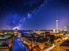 Berlin and the milky way - Berlin und die Milchstraße