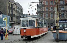 Berlin-Koepenick 1993 Linie 86 Richtung Alt-Schmoeckwitz am Schlossplatz.