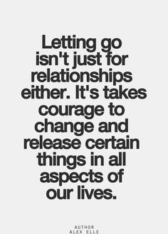 afraid to let go of a relationship