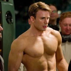 Chris Evans: Captain America - Ryan Gosling, Channing Tatum, and More Famous Pictues of Shirtless Men - Shape Magazine