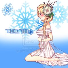 The Bride of Winter by starmageasuka. So Elsa is pregnant with Jack's child in this pic. I think what she is wearing would make a beautiful Christmas dress.