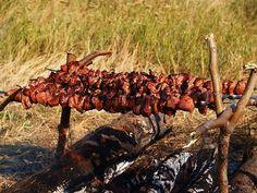 The most authentic way to cook Russian Shashlik skewers in nature.