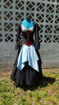 Underbrust Pirate Coat - Frock Coat - Pirate, 18th Century, Anne Boney, Mary Reed, Captain, Elizabeth Swann, Black Sails, Cosplay by TheSewingWench on Etsy https://www.etsy.com/listing/275053532/underbrust-pirate-coat-frock-coat-pirate