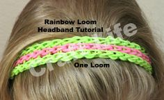 Rainbow Loom Headband Tutorial One Loom