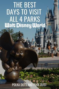 Here's the Best Days to Visit the Walt Disney World Parks no matter when you're travelling! We share the best days for crowds in each park, the best places to be on the weekends and evenings to avoid the crowds and have less ride wait times. Complete with Disney World Secrets, Disney World Parks, Walt Disney World Vacations, Disney World Tips And Tricks, Disney Tips, Disney World Resorts, Disney Magic, Disney Stuff, Disney Parks Orlando