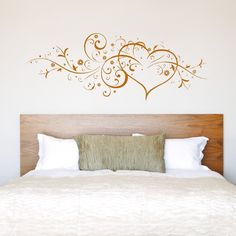 Swag Floral Heart, Wall Sticker Decal