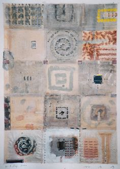D-7.Sep.2000 painting,collage on paper 林孝彦 HAYAHI Takahiko