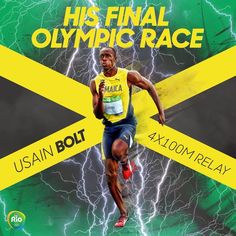 08.19.16 Usain Bolt. One final Olympic race. Can't bet against him. #Rio2016