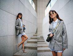 Tina Sizonova / Trend: Suit & Mini skirt http://ift.tt/2f6kIN8 // see more at bestfashionbloggers.com