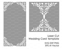 Boda invitación tarjeta sobre plantilla encaje por EasyCutPrintPD