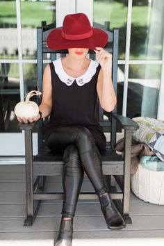 Jillian Harris ModCloth Skull Peplum Top