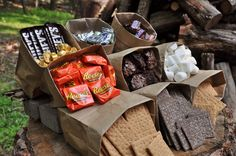 Summer Campfires are synonymous with S'mores. Check out these deliciously, ooey, gooey versions of the original backyard treat. Grab a stick and start roasting! Splash Party, Batman Party, Camping Parties, Grad Parties, Bonfire Birthday Party, 13th Birthday, Fire Pit Party, Party Fiesta, Bbq Party