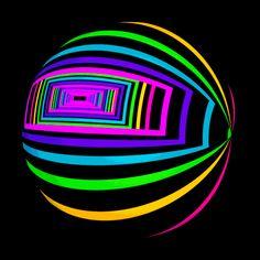 hexeosis Geometric & Patterns , animated gif gifs hypnotic trippy via Optical Illusion Gif, Cool Optical Illusions, Art Optical, Illusion Art, Beste Gif, Neon Licht, Trippy Gif, Gif Animé, Animated Gif