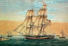 19. Jahrhundert - Brigantina Auguste Mathilde von Stralsund, Capt. Grünwaldt